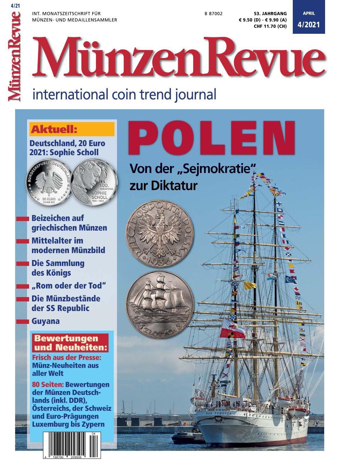 19+ MünzenRevue   Ausgabe 8/8 Stock